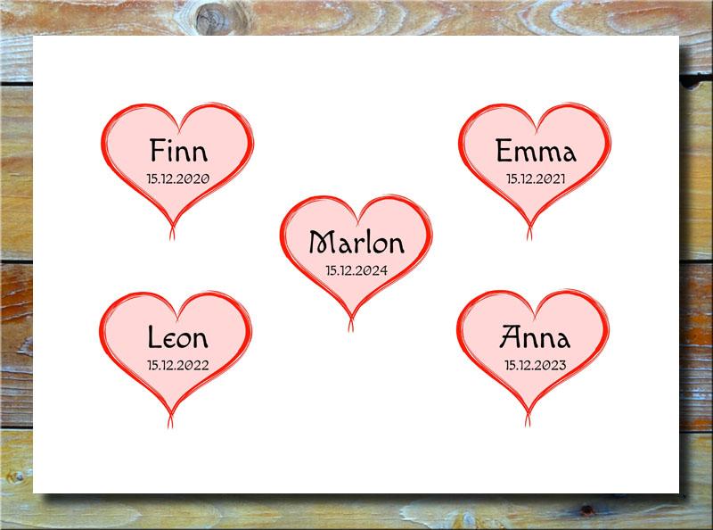 Meine 5 Kinder in Herzen