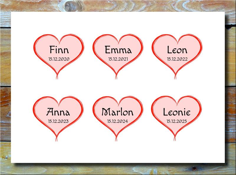 Meine 6 Kinder in Herzen