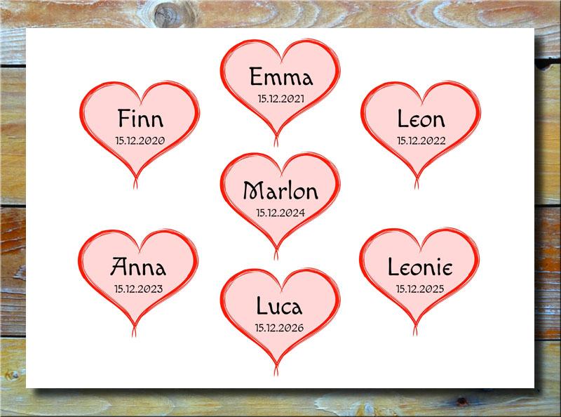 Meine 7 Kinder in Herzen
