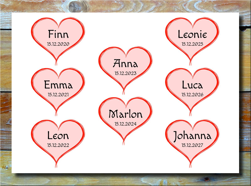 Meine 8 Kinder in Herzen