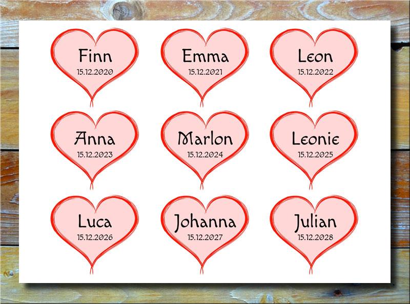 Meine 9 Kinder in Herzen