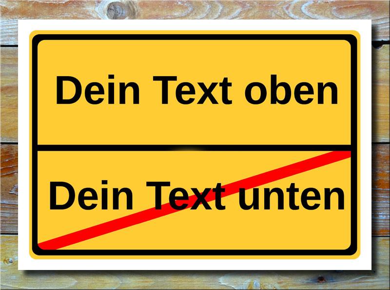 Ortsschild freier Text mit 2 Zeilen