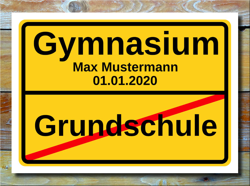 Ortsschild Grundschule Gymnasium