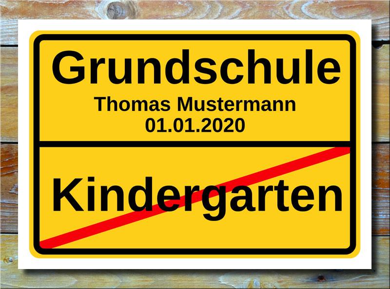 Ortsschild Kindergarten Grundschule
