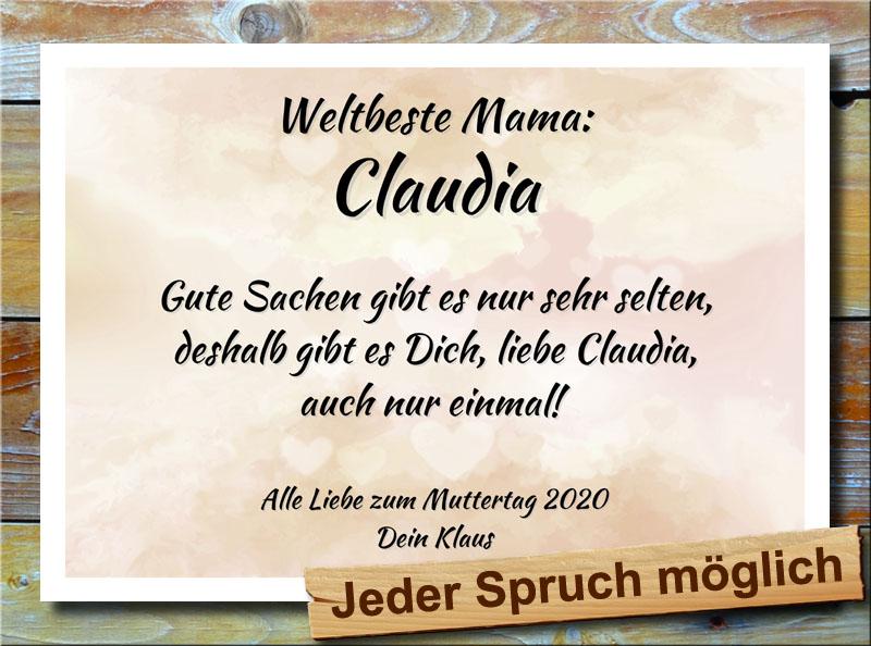 Muttertag in Sepia Herzen