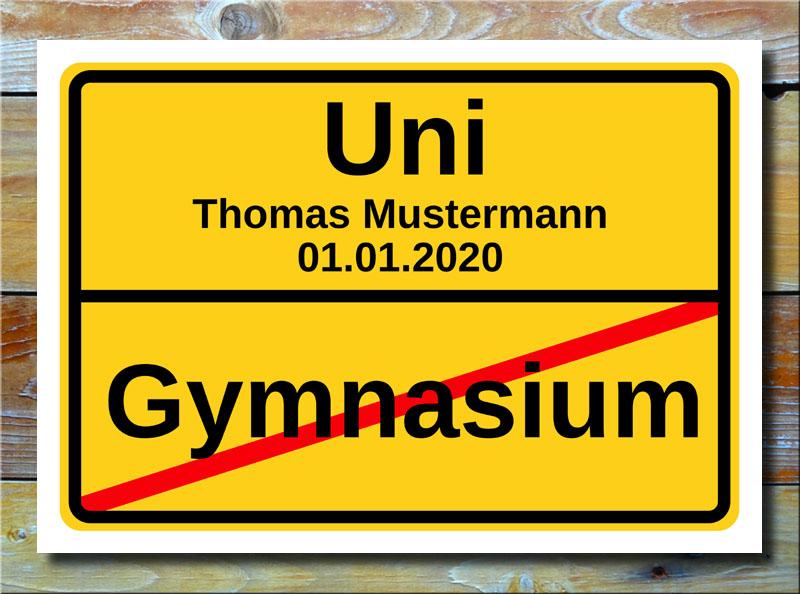 Ortstafel Gymnasium Uni