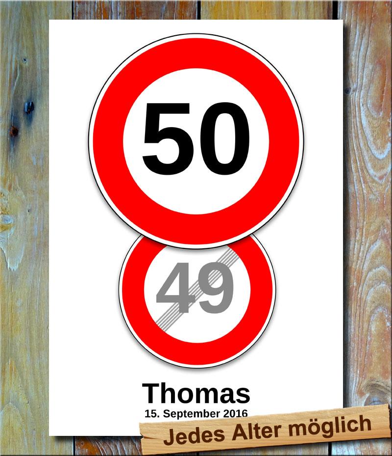 Geburtstags-Tempolimit-Doppelpack 50 Jahre