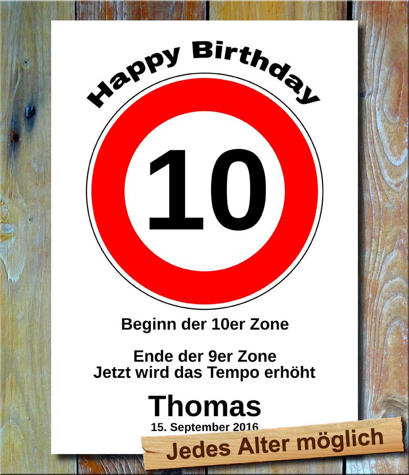 Tempolimit zum Geburtstag 10 Jahre