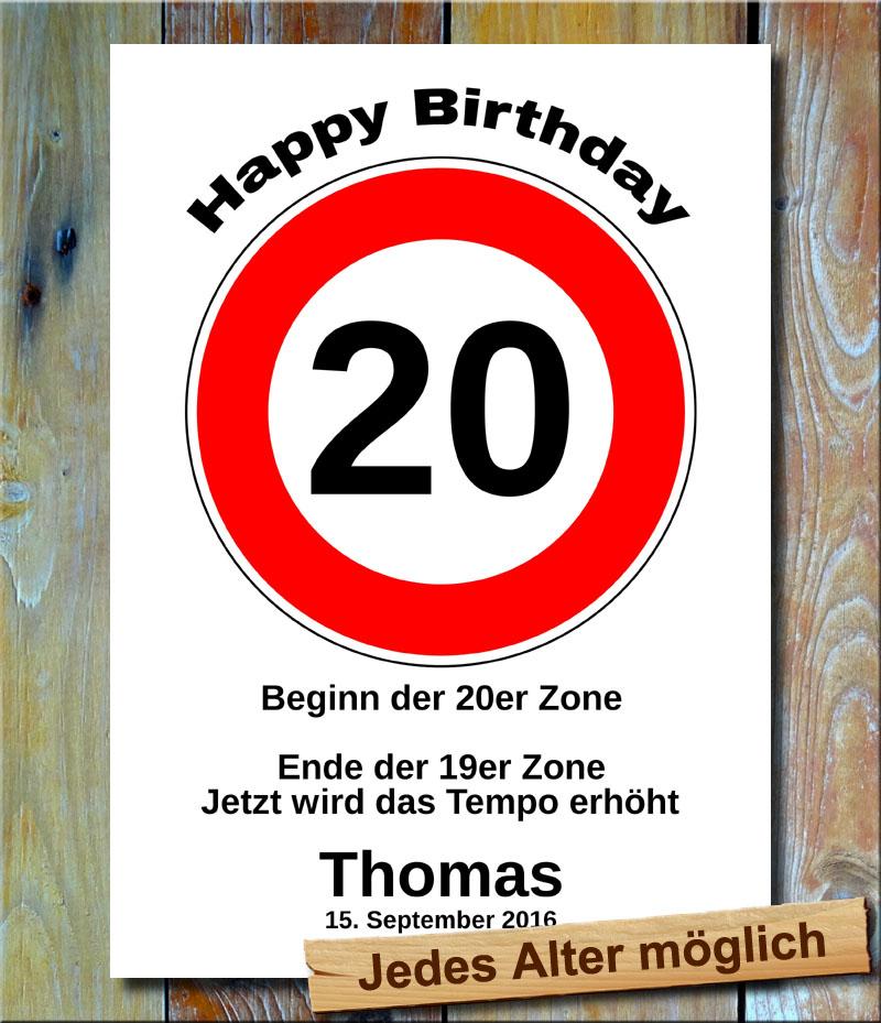 Tempolimit zum Geburtstag 20 Jahre