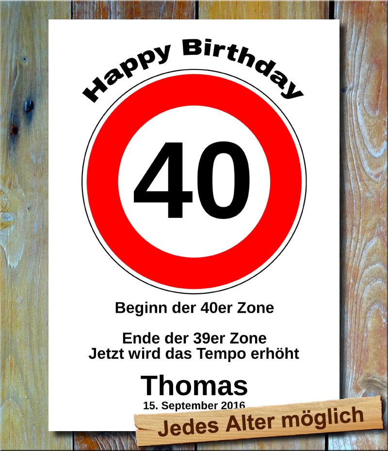 Tempolimit zum Geburtstag 40 Jahre
