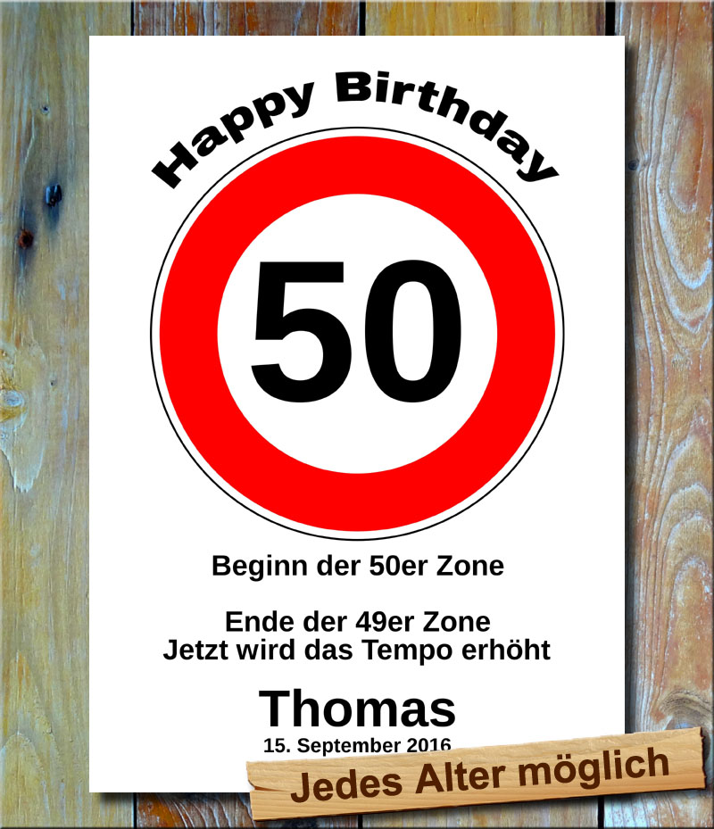 Tempolimit zum Geburtstag 50 Jahre