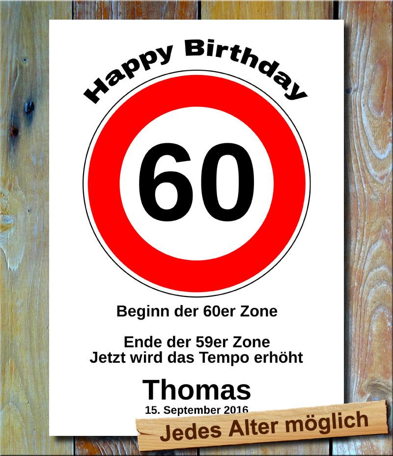 Tempolimit zum Geburtstag 60 Jahre