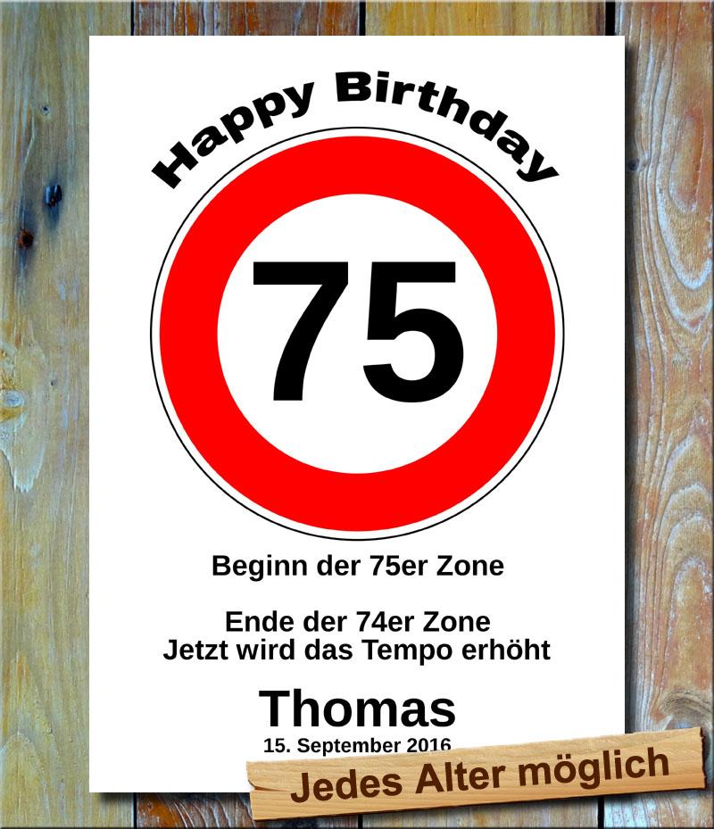 Tempolimit zum Geburtstag 75 Jahre