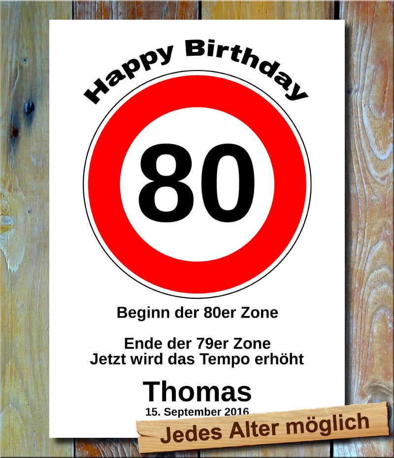 Tempolimit zum Geburtstag 80 Jahre