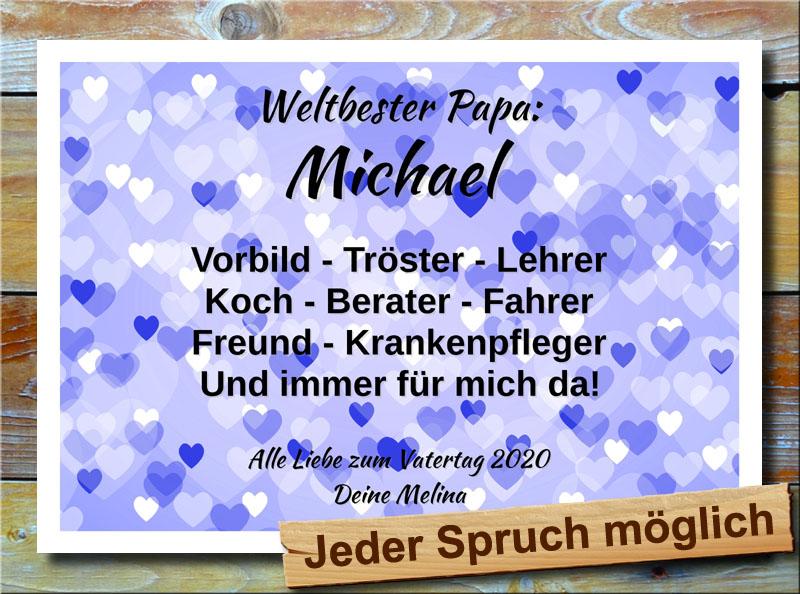 Multivorlagede Geschenk Zum Vatertag Mit Namensdruck Und